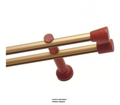 Круглые профильные карнизы Эко с  деревянными наконечниками
